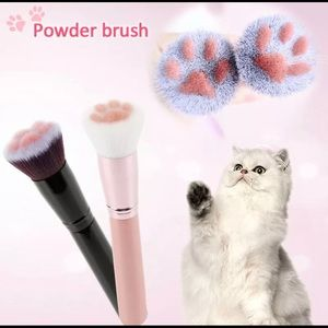 Cat Paw Makeup Powder Brush New